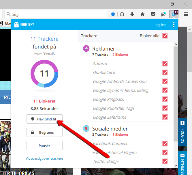 Ghostery Firefox