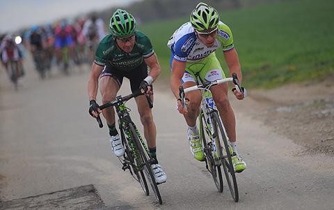 Amstel2012 Thomas Voeckler Peter Sagan angreb