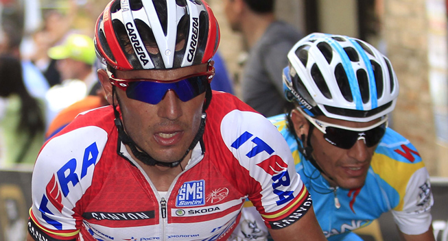 Giro2012 10 etape Joaquim Rodriguez Olivier og Paolo Tiralongo