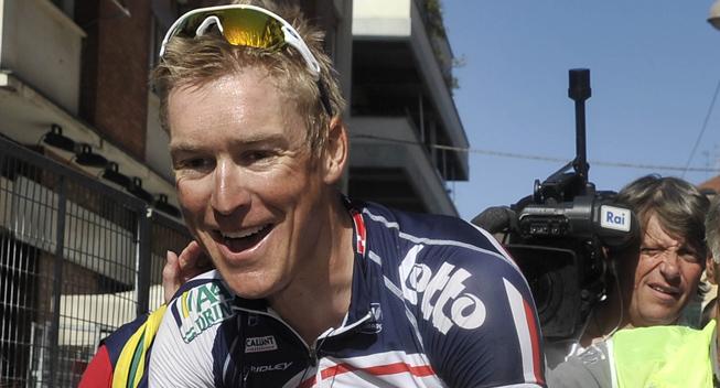 Giro2012 12 etape Lars Bak glad vinder