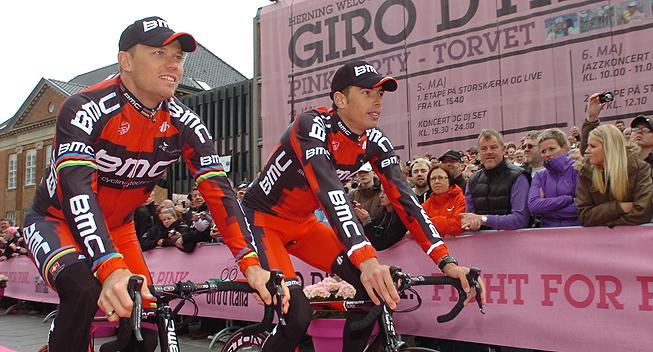 Giro2012 Team Presentation BMC Thor Hushovd og Alessandro Ballan