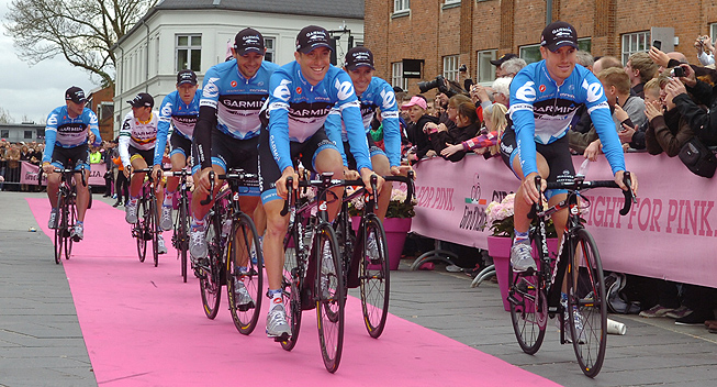 Giro2012 Team Presentation Garmin Barracuda Christian Vandevelde og Tyler Farrar