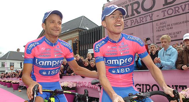 Giro2012 Team Presentation Lampre Michele Scarponi og Damiano Cunego