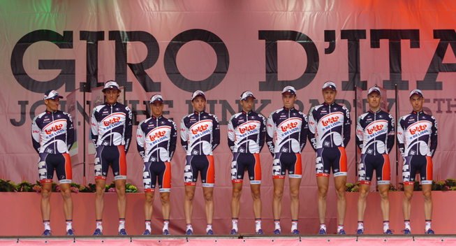 Giro2012 Team Presentation Lotto - Bellisol