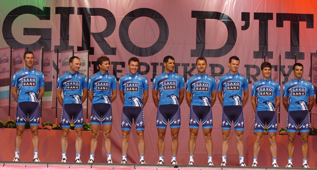 Giro2012 Team Presentation Saxo Bank
