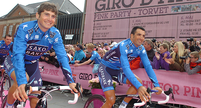 Giro2012 Team Presentation Saxo Bank Manuele Boaro