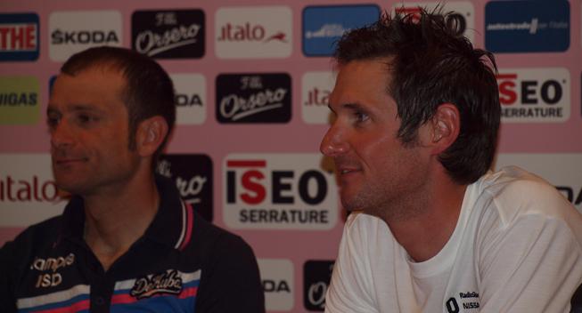 Giro2012 praesentation Frank Schleck og Michele Scarponi