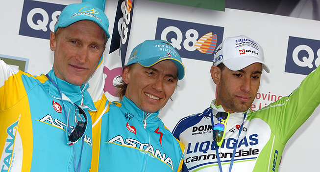 LBL2012 Podiet Gasparotto Iglinsky Nibali