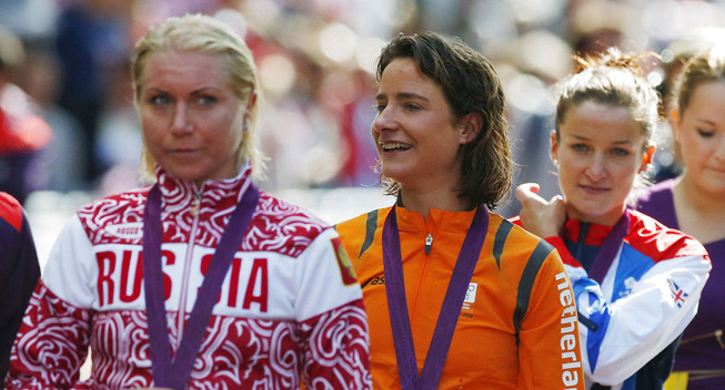 OL London 2012 Marianne Vos podieceremonien
