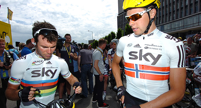 TdF2012 5 etape Mark Cavendish og Edvald Boasson Hagen