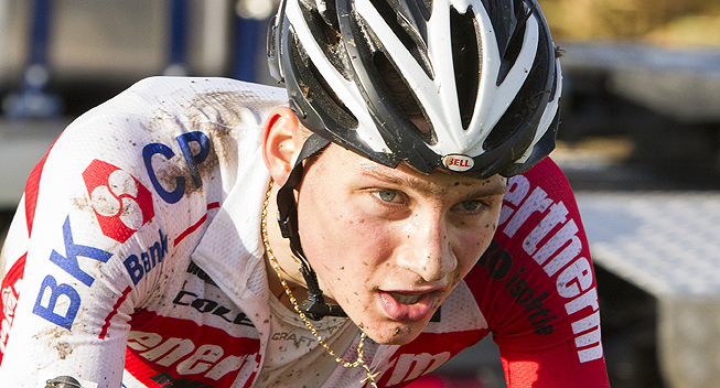 Photo: As there is no U23 race in Koksijde, van der Poel has been selected as part of the Ducth team for the elite race.