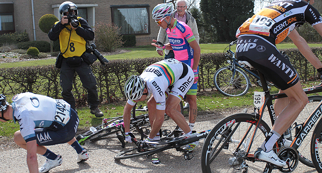 Amstel2013 Philippe Gilbert i styrt