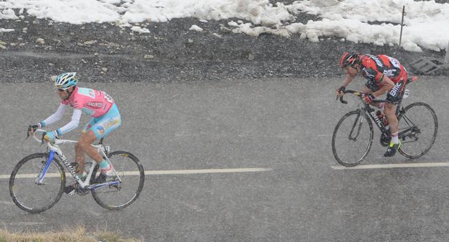Giro2013 15 etape Cadel Evans og Vincenzo Nibali