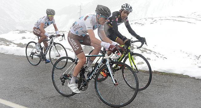 Giro2013 15 etape Hupert Dupont og Domenico Pozzovivo