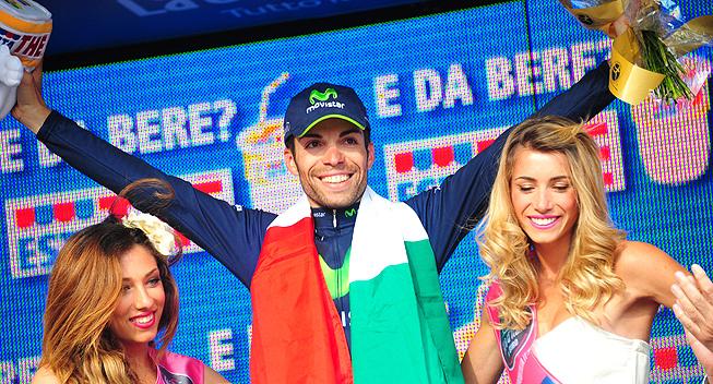 Giro 17 etape Giovanni Visconti podiet