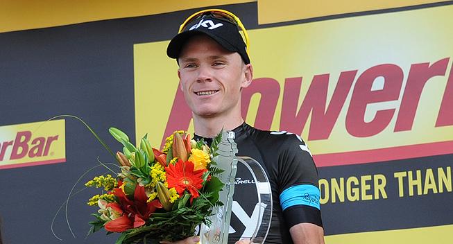 TdF2013 15 etape Chris Froome podiet