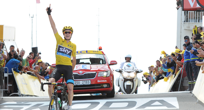 TdF2013 15 etape Ventoux Chris Froome sejr