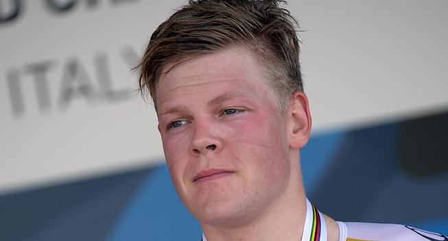 VM 2013 Firenze U23 Herrer TT Lasse Norman Hansen podiet