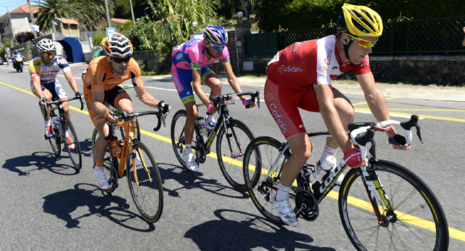 Vuelta 2013 3 etape Bessy Dodi Urtasun og Reynes i udbrud