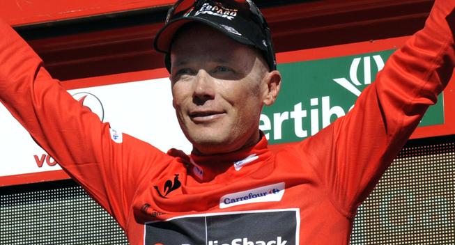 Vuelta 2013 3 etape Chris Horner podiet red jersey