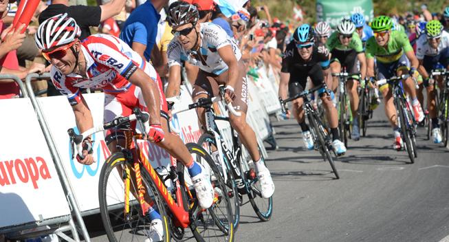 Vuelta 2013 3 etape Hovedfeltets spurt Joaquin Rodriguez Oliver