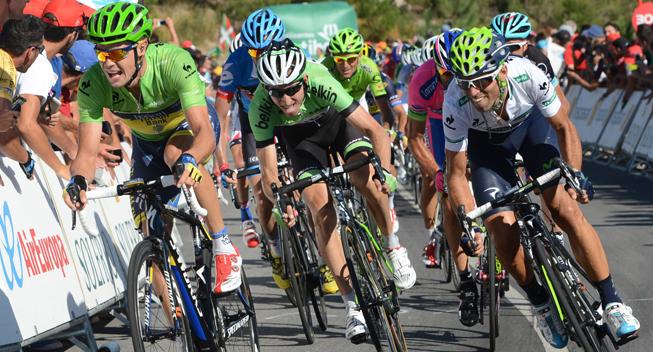 Vuelta 2013 3 etape Hovedfeltets spurt Nicolas Roche og Alejandro Valverde