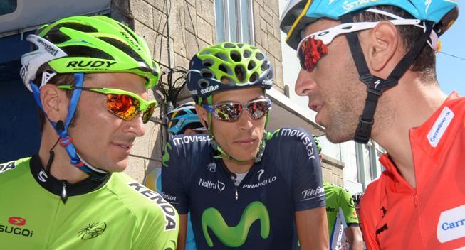 Vuelta 2013 3 etape Ivan Basso Eros Capecchi og Vincenzo Nibali