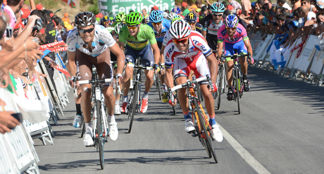 Vuelta 2013 3 etape hovedfeltets spurt