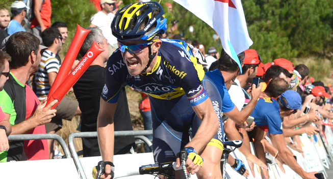 Vuelta 2013 3 etape hovedfeltets spurt Chris Anker Sorensen