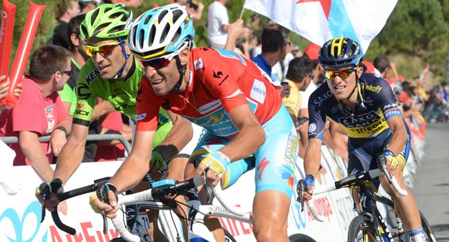 Vuelta 2013 3 etape hovedfeltets spurt Ivan Basso og Vincenzo Nibali