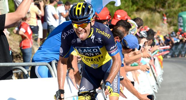 Vuelta 2013 3 etape hovedfeltets spurt Oliver Zaugg