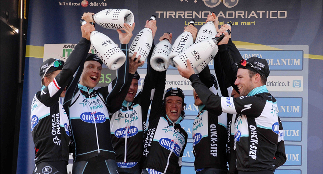 Photo: Omega Pharma-QuickStep will be known as Etixx-QuickStep from the 2015 season, as Belgian sports nutrition brand Etixx takes over as title sponsor of the Belgian WorldTour outfit. � (cyclingquotes.com)
