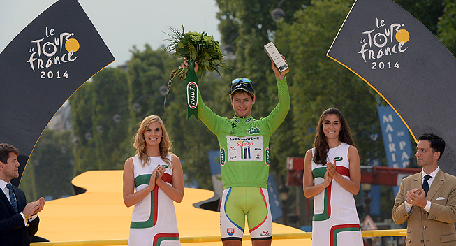 Photo: Sagan did not win any stages, but finished very often among the first few riders. Also very pretty, but the gap with a rider who wins four stages should not be so big...