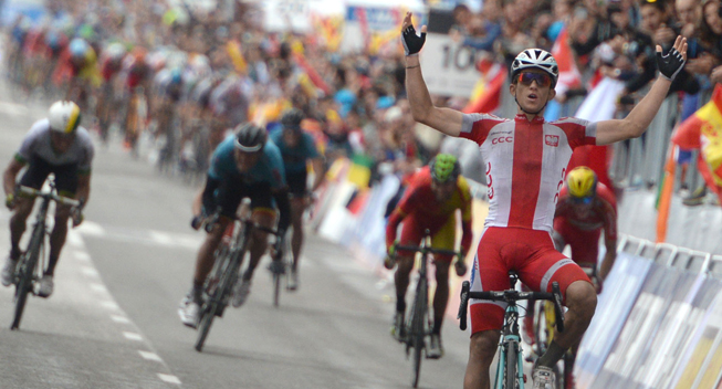 Photo: I would like to thank the whole team again. We ride for various professional teams, but if we pull the white-red jersey, we hold the right to be a team together, for nothing is more important.