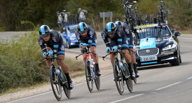 Photo: n a nail-biting finale, Sky beat Orica-GreenEDGE by 0.6 second.