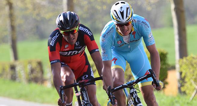Amstel Gold Race 2015 Jakob Fuglsang og Greg van Avermaet angreb