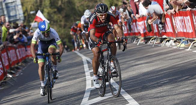 Amstel Gold Race 2015 Philippe Gilbert og Michael Matthews angreb