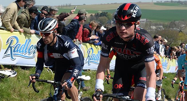Amstel Gold Race 2015 Rasmus Guldhammer i feltet