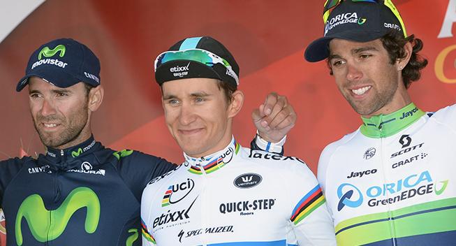 Amstel Gold Race 2015 podiet Valverde Kwiatkowski og Matthews