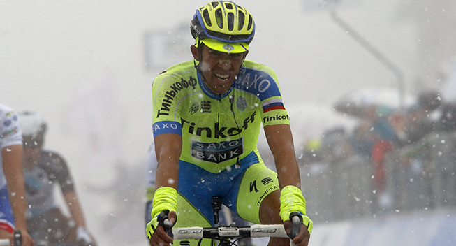 Photo: I've caught a little cold from the two wet stages in Italy with snow and rain.
