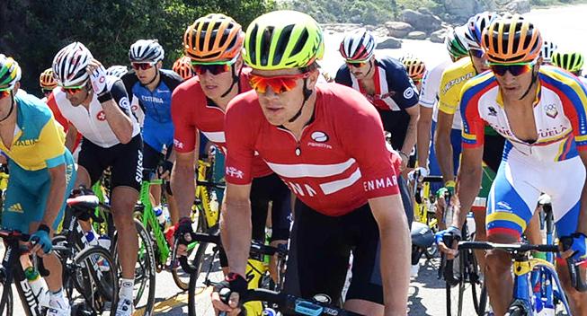 OL Rio2016 Christopher Juul Jensen og Jakob Fuglsang i front