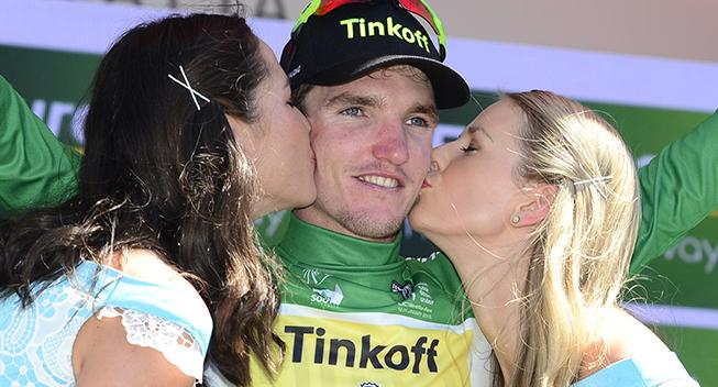 TdU2016 2 etape Jay McCarthy podiet kyssepiger