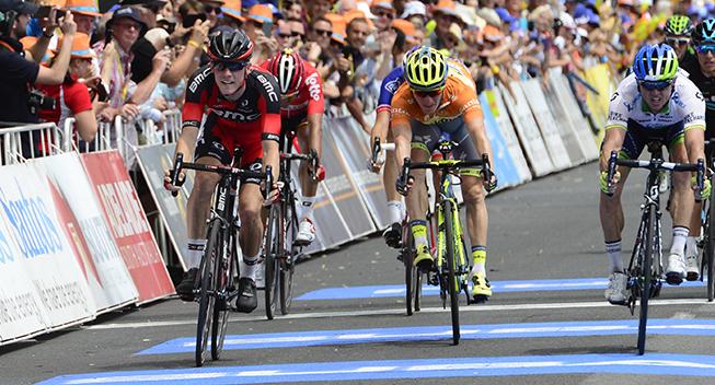 TdU2016 3 etape Rohan Dennis - Simon Gerrans og Jay McCarthy