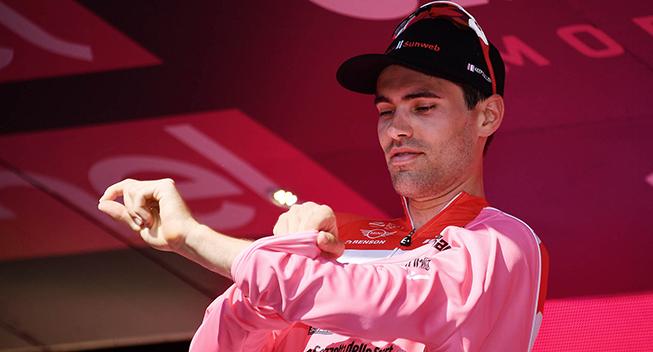 Giro2017 10 etape ITT Tom Dumoulin podiet maglia rosa