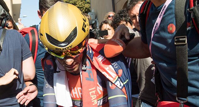 Giro2017 10 etape ITT Vincenzo Nibali after race
