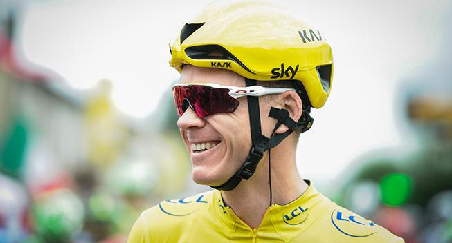 TdF2017 11 etape Chris Froome prestart