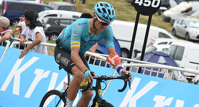 TdF2017 12 etape Jakob Fuglsang fighting