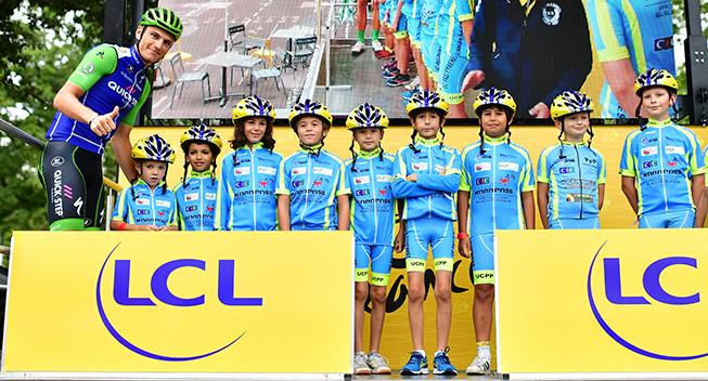 TdF2017 12 etape Marcel Kittel podiet med kids