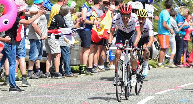 TdF2017 13 etape Alberto Contador og Mikel Landa angreb