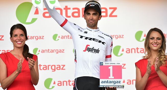 TdF2017 13 etape Alberto Contador podiet angrebspris